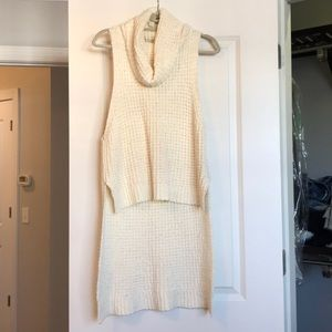 Free people high low cowl neck sweater